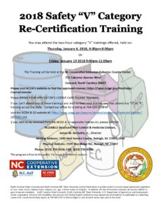 Cover photo for V Category Private Applicator Credits Trainings