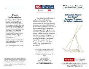 Cover photo for NC Extension Master Gardener Program Information