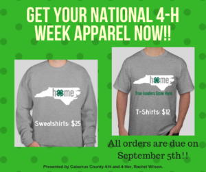 Cover photo for Get Your 4-H Apparel Now!
