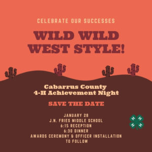 Cover photo for 4-H Achievement Night - Save the Date!