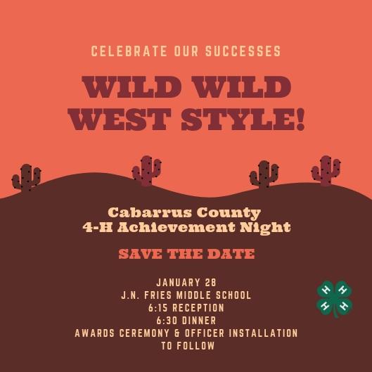 4-H Achievement Night flyer image