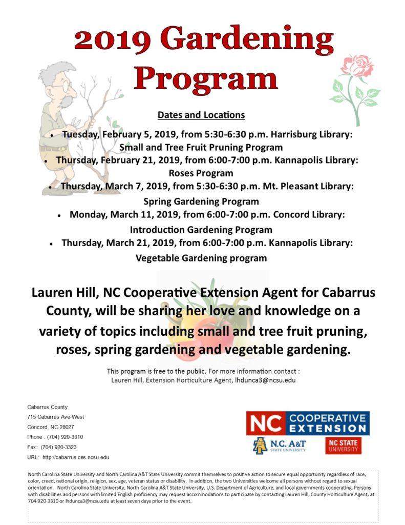 Gardening Program flyer image