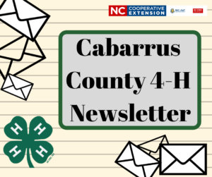Cover photo for Cabarrus 4-H Newsletter