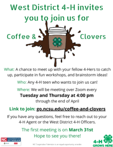 Cover photo for 4-H Coffee & Clovers