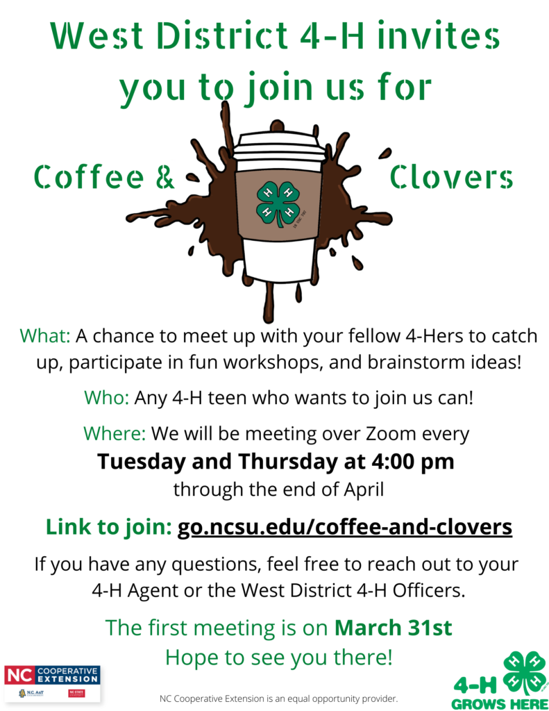 Coffee & Clovers flyer