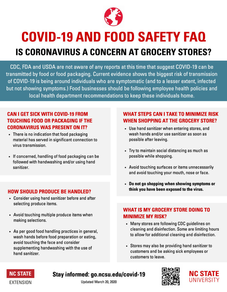 Grocery Store Safety flyer