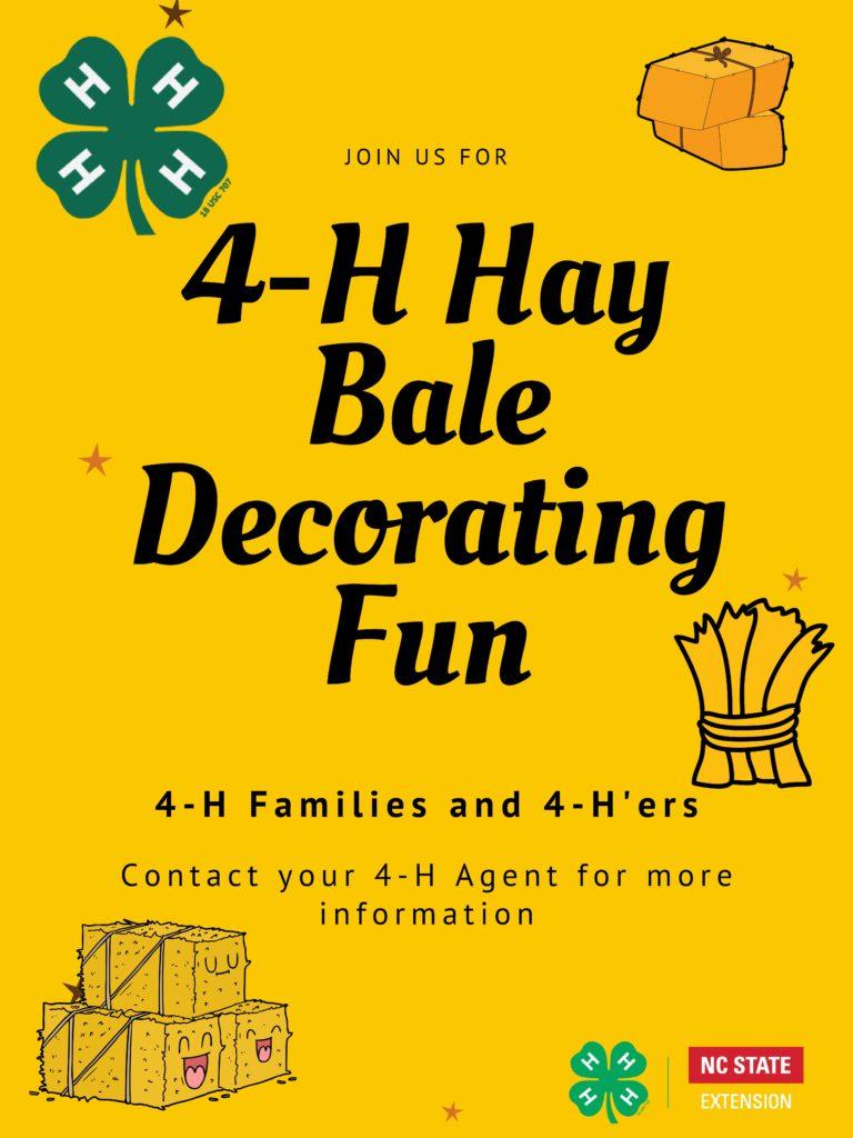 4-H Hay Bale Decorating Fun